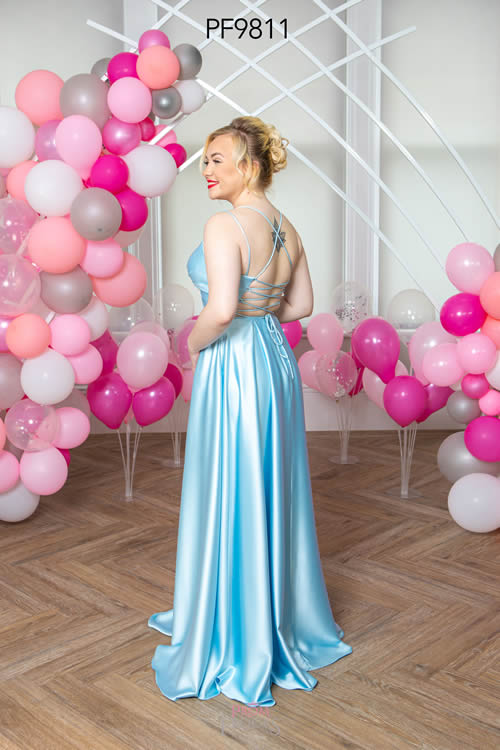 Prom Frocks PF9811 PALE BLUE BACK
