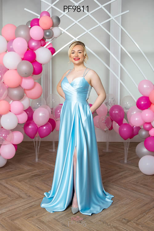 Prom Frocks PF9811 PALE BLUE FRONT