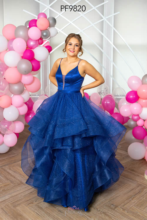 Prom Frocks PF9820 NAVY FRONT