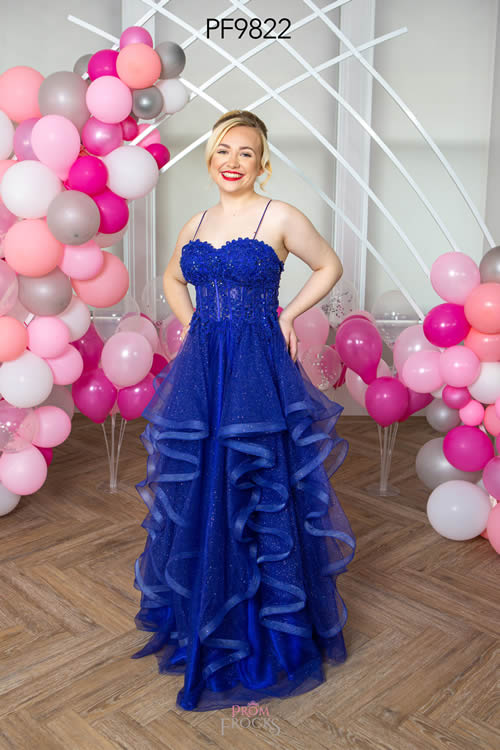 Prom Frocks PF9822 NAVY FRONT