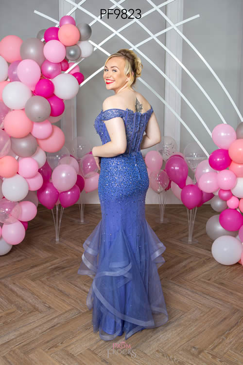 Prom Frocks PF9823 BLUEBELL BACK