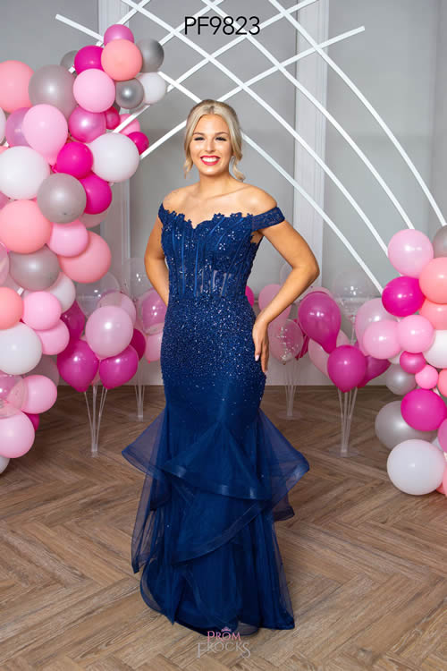 Prom Frocks PF9823 NAVY FRONT