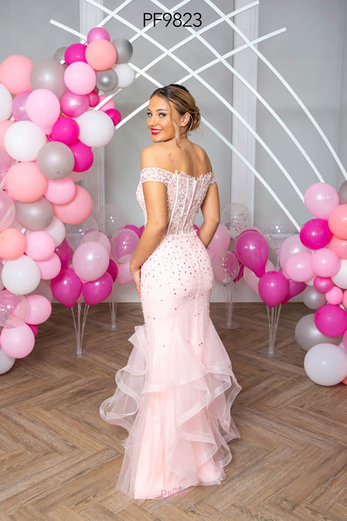Prom Frocks PF9823 PALE PINK BACK