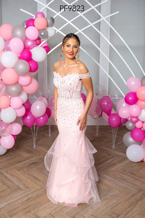 Prom Frocks PF9823 PALE PINK FRONT