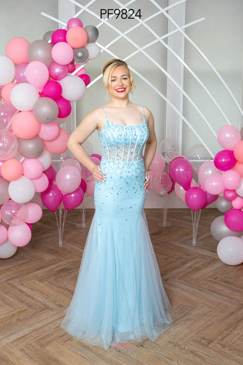 Prom Frocks PF9824 PALE BLUE FRONT