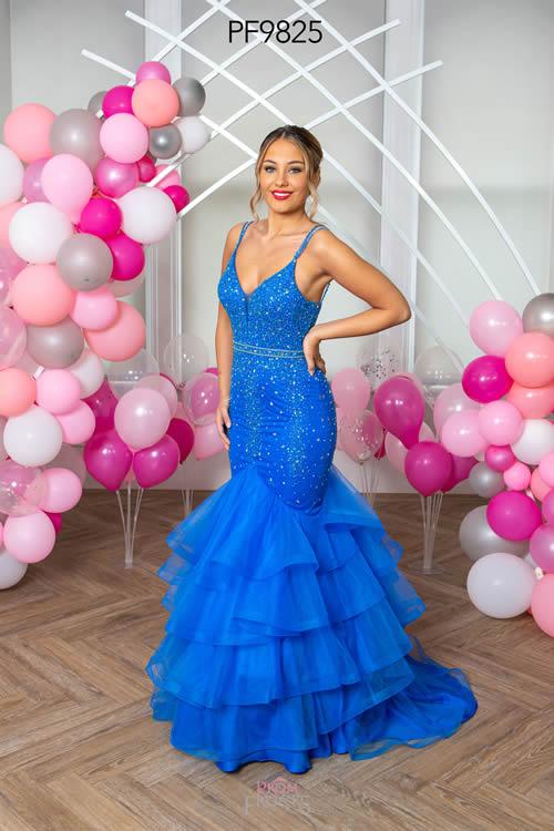 Prom Frocks PF9825 ALASKAN BLUE FRONT