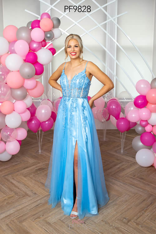 Prom Frocks PF9828 PERRIWINKLE FRONT