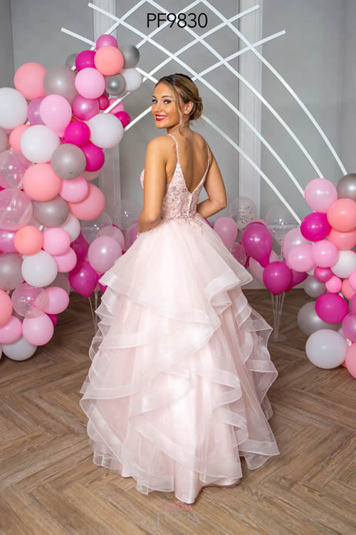Prom Frocks PF9830 PALE PINK BACK