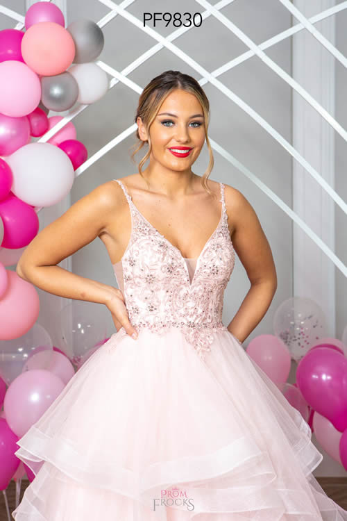 Prom Frocks PF9830 PALE PINK H FRONT