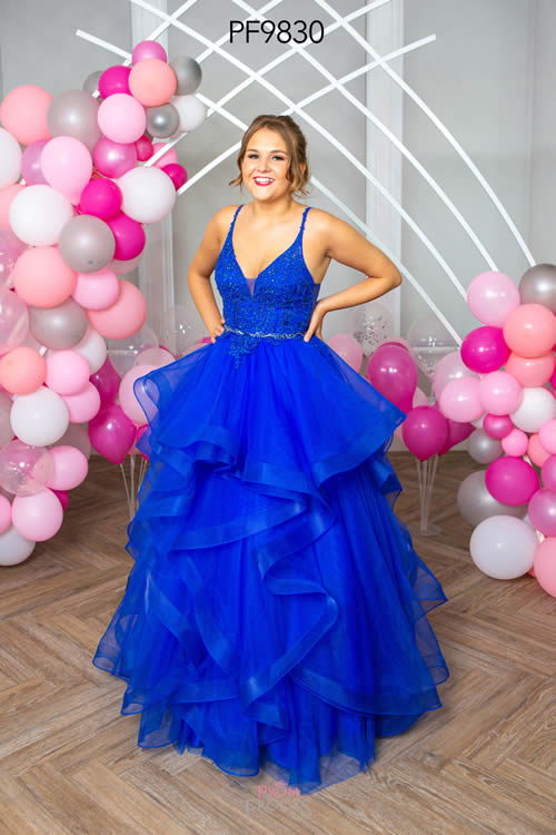 Prom Frocks PF9830 ROYAL FRONT