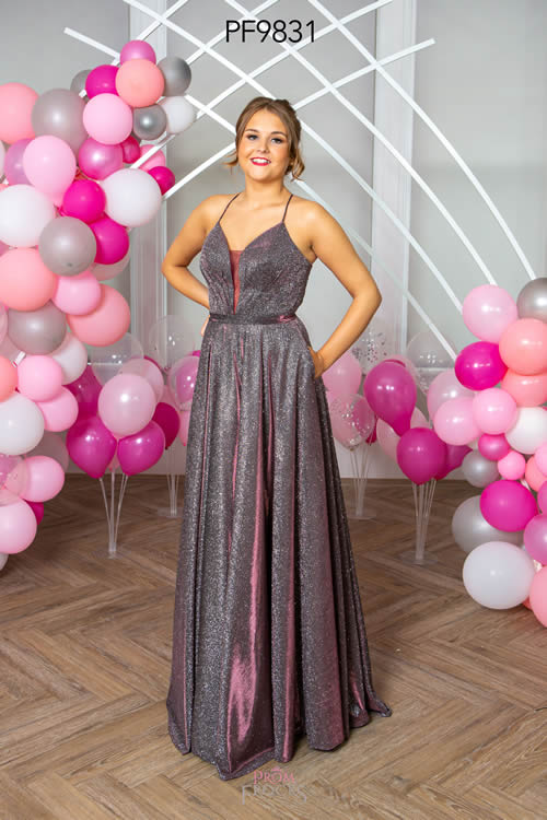 Prom Frocks PF9831 BLACKCURRANT FRONT