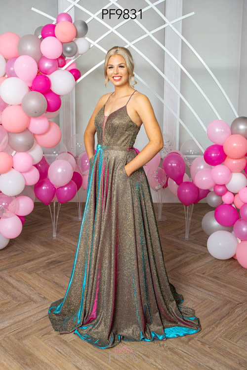 Prom Frocks PF9831 BRONZE MIX FRONT