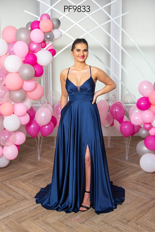 Prom Frocks PF9833 NAVY FRONT