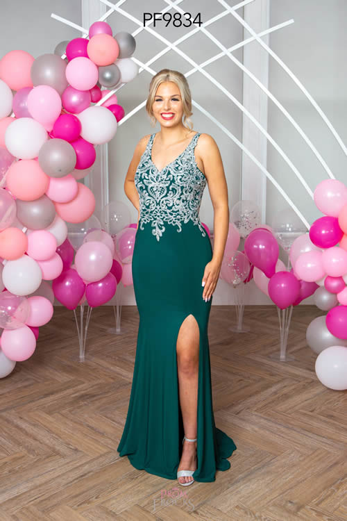 Prom Frocks PF9834 GREEN FRONT