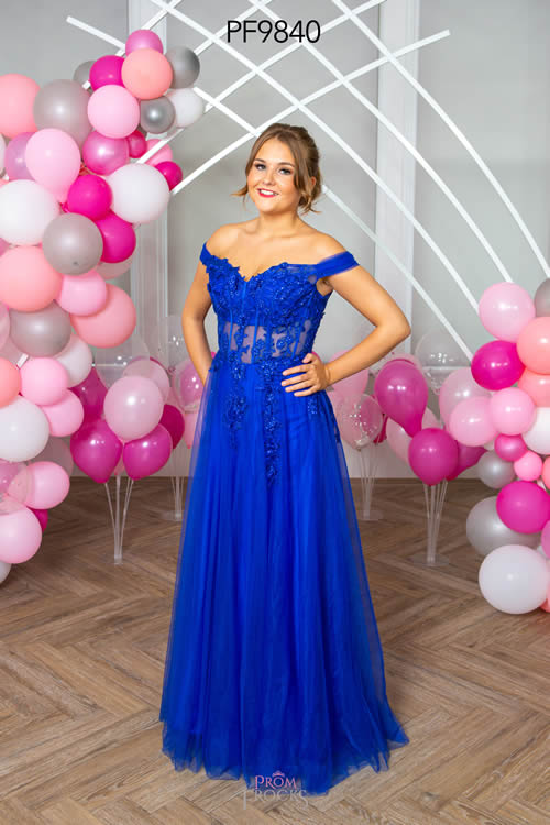 Prom Frocks PF9840 ROYAL FRONT
