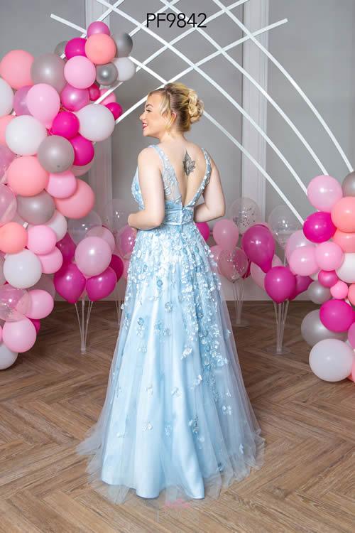 Prom Frocks PF9842 PALE BLUE BACK
