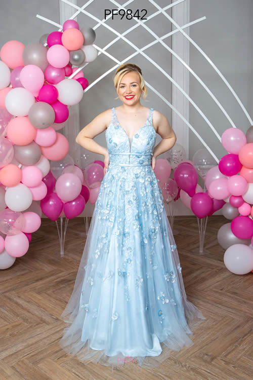 Prom Frocks PF9842 PALE BLUE FRONT