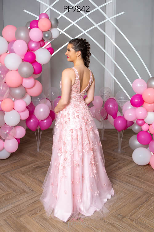 Prom Frocks PF9842 PALE PINK BACK