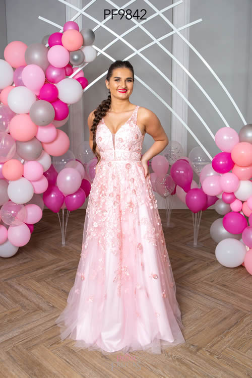 Prom Frocks PF9842 PALE PINK FRONT
