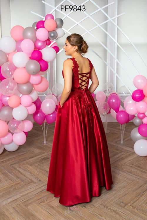 Prom Frocks PF9843 DK RED BACK