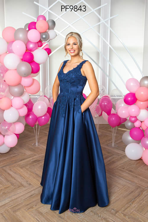 Prom Frocks PF9843 NAVY FRONT