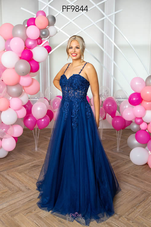 Prom Frocks PF9844 NAVY FRONT