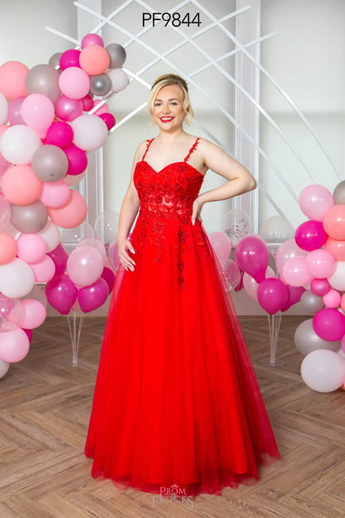 Prom Frocks PF9844 RED FRONT