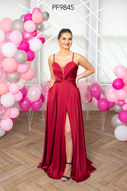 Prom Frocks PF9845 BLACKCURRANT FRONT