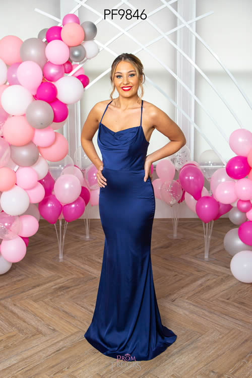 Prom Frocks PF9846 NAVY FRONT